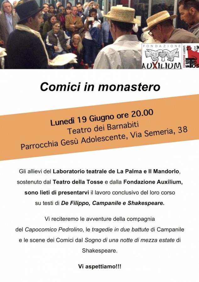 Comici in Monastero, il laboratorio teatrale sostenuto dal Teatro della Tosse e Auxilium