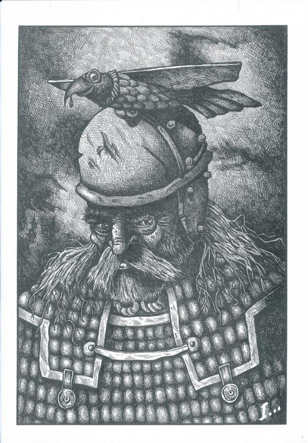 Nuova serie dei disegni di Igor Belansky. Presentiamo per primo il Guerriero Gallo
