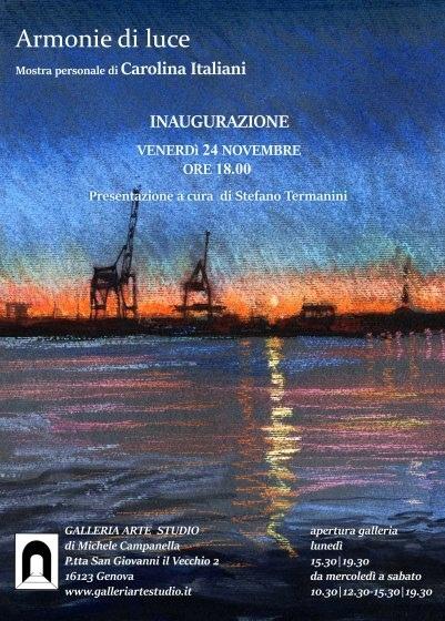 Mostra della pittrice Carolina Italiani alla. Galleria Arte Studio presenta S. Termanini