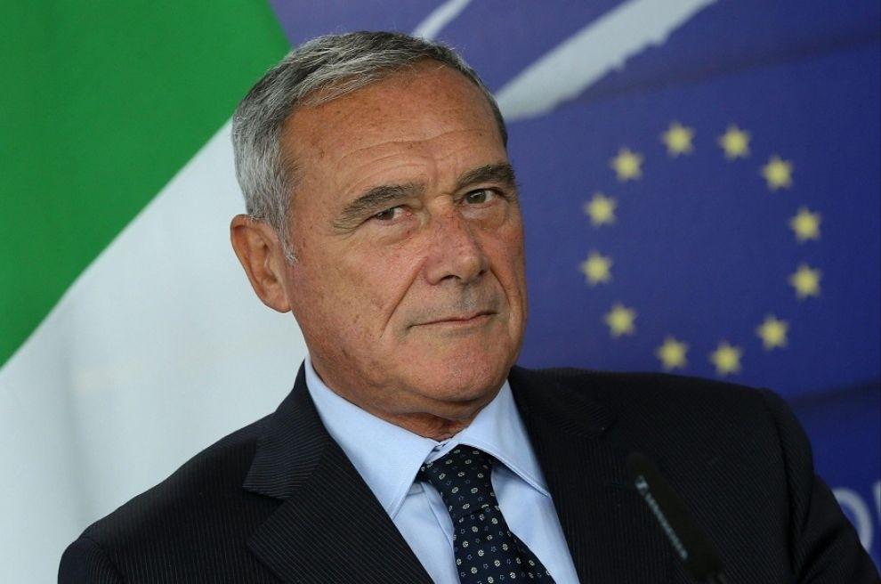Pietro Grasso a Genova per un omaggio a. Falcone e Borsellino nel 25° anniversario