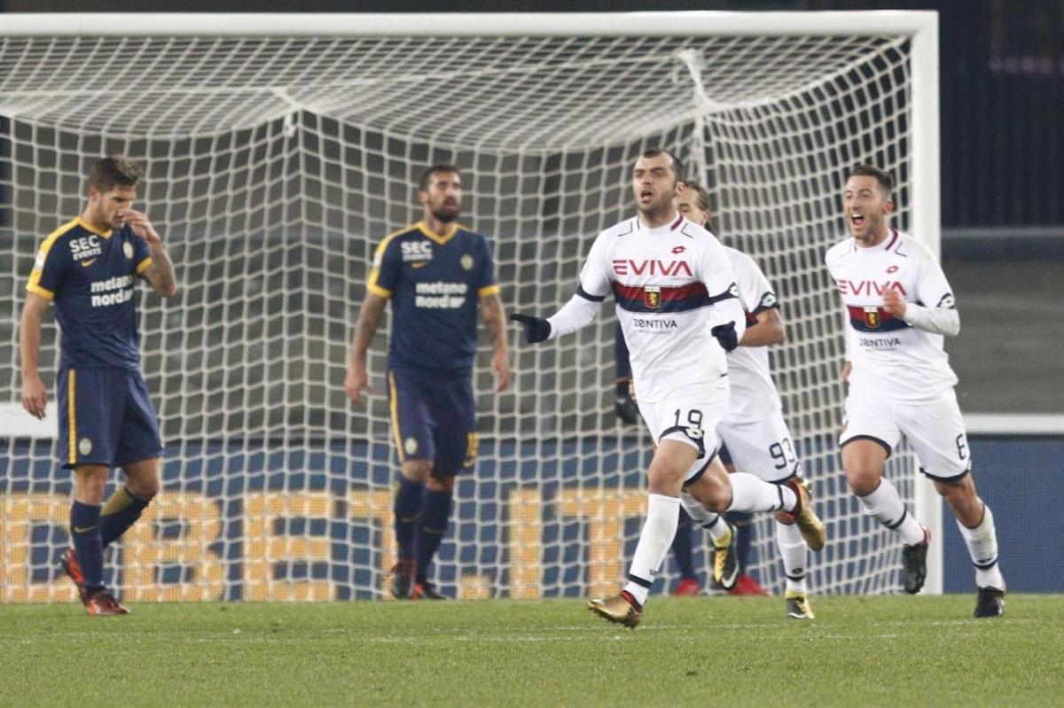 Il Genoa batte il Verona e si risolleva in classifica, fuori zona retrocessione