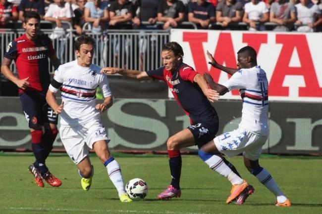 La Sampdoria ancora in affanno anche il. Cagliari recupera 2 goal, dallo 0-2 al 2-2