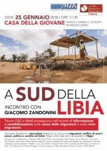 A sud della Libia, conferenza di Zandonini pubblichiamo un intervento di G. Borgiani