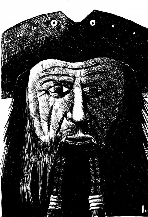Barbanera il pirata, severità ed ironia nei tratti di un volto marcato e vissuto