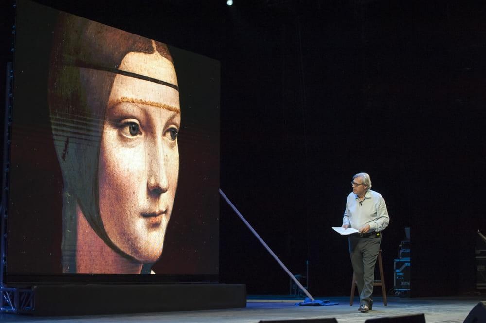 Sgarbi affascina come sempre con Leonardo. 3 ore per farci conoscere il genio e sregolatezza
