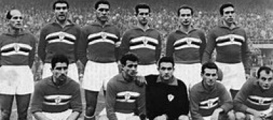 La Sampdoria del 1961 quarto posto in classifica e un attacco da far paura